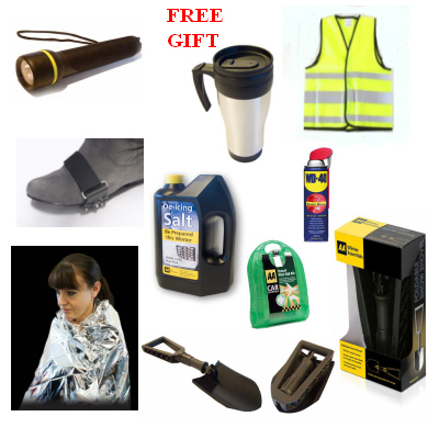 8 Piece Winter Snow Kit with FREE AA Travel Mug including AA Snow Shovel