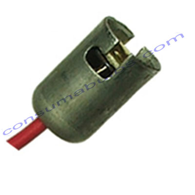 Ceramic Bulb Holder BA15S Straight Cable Exit (BH0012)