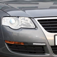 Ring LED Prism Black Daytime Styling Lights - White