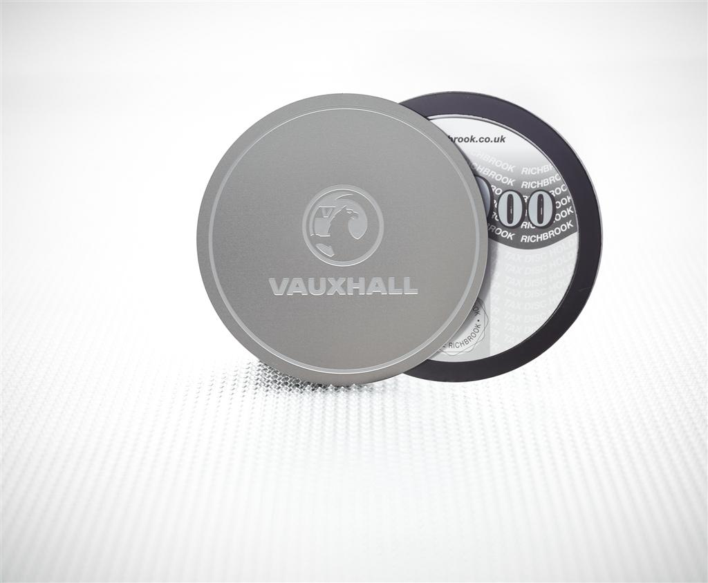 Richbrook Vauxhall Officially Licensed Magnetic Stainless Steel Car Tax Disc Holder