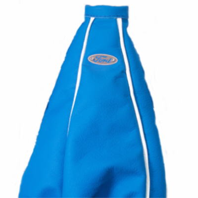 Ford Gear Shaft Gaiter Blue with White piping