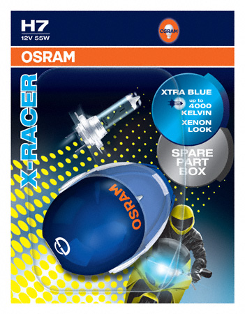 Osram H7 X-Racer Motorbike Bulbs Xtra Blue 12v 55w  OUT OF STOCK